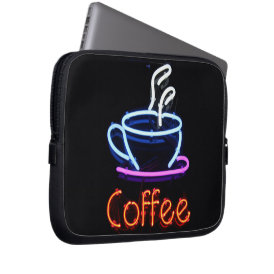 Neon Coffee Sign Computer Sleeve