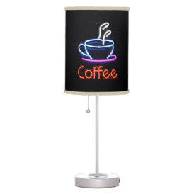 Neon Coffee Sign Table Lamp