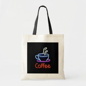 Neon Coffee Sign Tote Bag