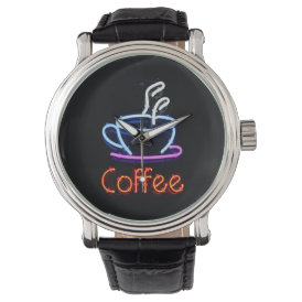 Neon Coffee Sign Watch