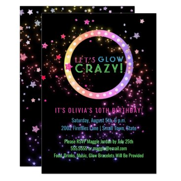 Neon Glow in the Dark Party | Kids Birthday Invitation