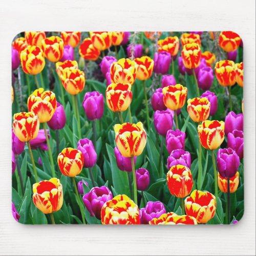Neon Tulips Mousepad mousepad