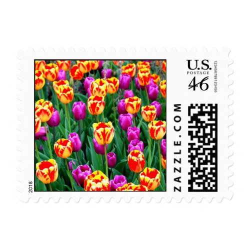 Neon Tulips Stamps stamp