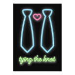 Neon Tying The Knot Gay Wedding Invitation