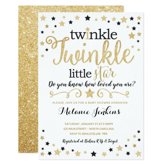 Neutral Le Little Star Baby Shower Invitation