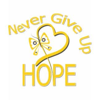 Never Give Up Hope Childhood Cancer shirt