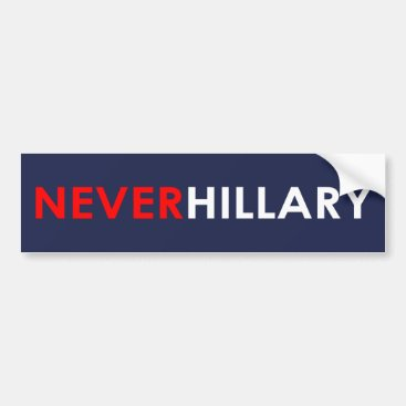 Never Hillary Bumper Sticker (Blue)