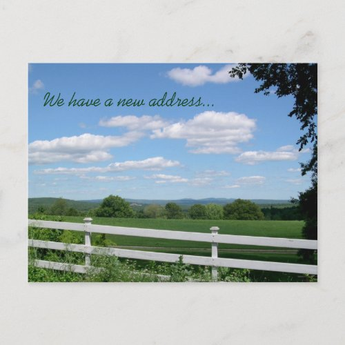New Address Country Scenery Postcard postcard