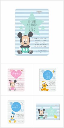 NEW Disney Baby's 1st Birthday Collection