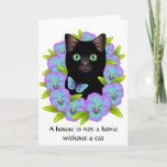 ❤️ New Home Congratulations Card - Floral Cat cute