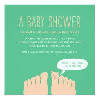 New Little Piggies Baby Shower Card