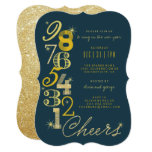 New Year's Eve Countdown Glitter Holiday Party Invitation