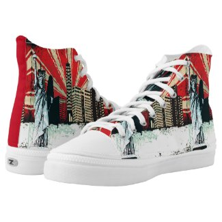 New York City NY grunge design shoe Printed Shoes