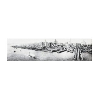 New York City Panorama Photograph (1918) Canvas Print