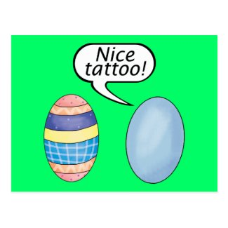 Nice Tattoo Easter Eggs Post Card