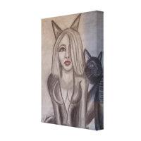 Niecy Catz - Woman Canvas Print