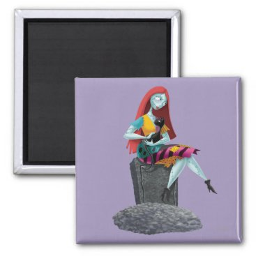 Nightmare Before Christmas | Sally & Cat Sitting Magnet