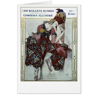 Nijinsky dans La Peri — Ballets Russes Greeting Card