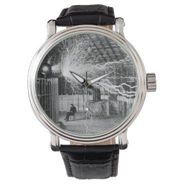 Nikola Tesla at his Colorado Springs Lab, 1899 Wrist Watch