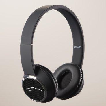 Nissan 350Z White Silhoutte on faux carbon fiber Headphones