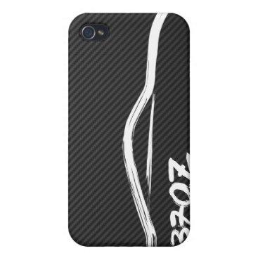 Nissan 370z White Brush Stroke iPhone 4/4S Case