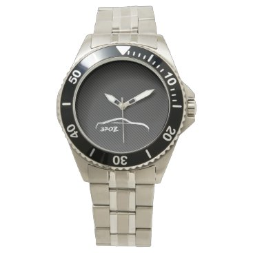 Nissan 370Z White Silhouette Wrist Watch