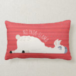 ❤️ No Prob-Llama Funny Llama Lumbar Pillow