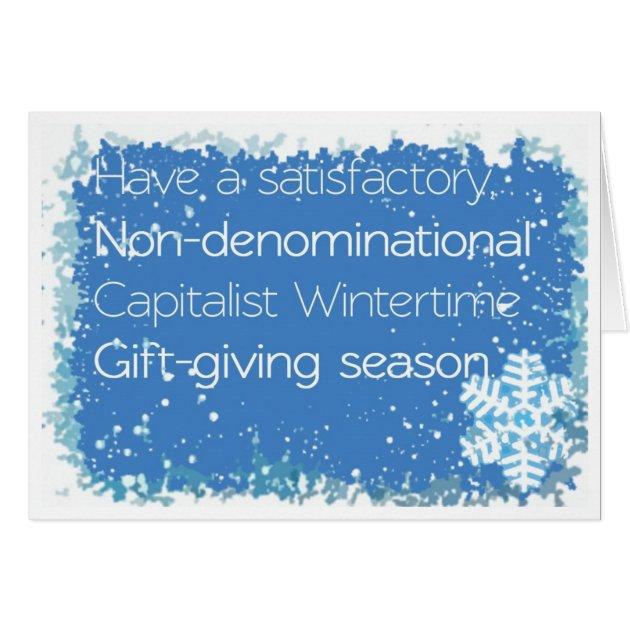 Non Denominational Christmas Card
