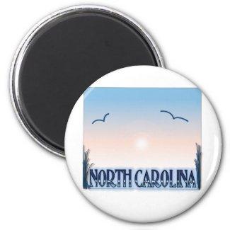 North Carolina Airbrush Sunset Refrigerator Magnet