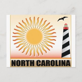 North Carolina Lighthouse Sun Postcard