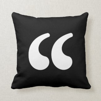 Nosetouch Press Quote Pillow