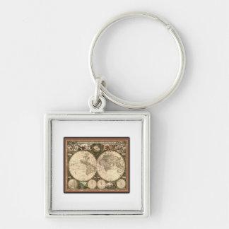 Nova totius terrarum orbis tabula auctore key chain