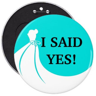 Novelty Sized Bride To Be Flair Pinback Button