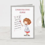 Nurse, optometrist, medical doctor graduation card