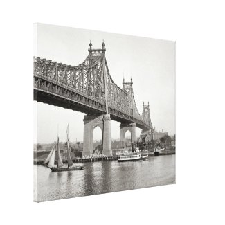 NYC Queensboro Bridge Photograph Canvas Print