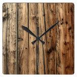 Oak wood clock