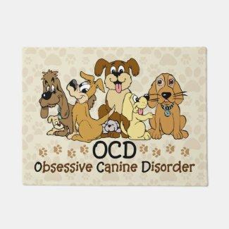 OCD Obsessive Canine Disorder Doormat