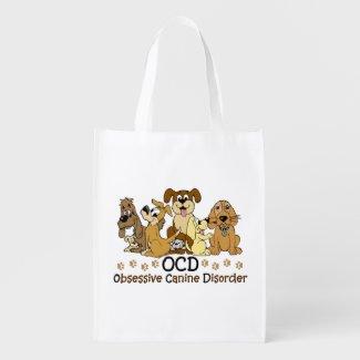 OCD Obsessive Canine Disorder Reusable Grocery Bag