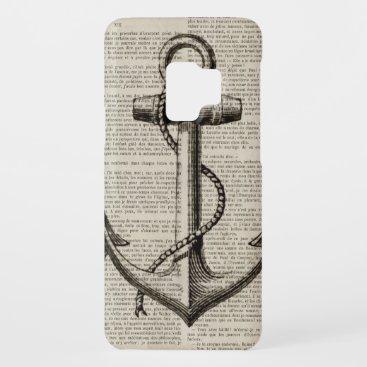 ocean beach  sailor vintage nautical anchor Case-Mate samsung galaxy s9 case