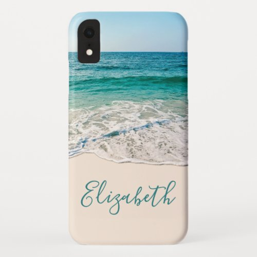 Ocean Beach Shore to Add Your Name iPhone XR Case