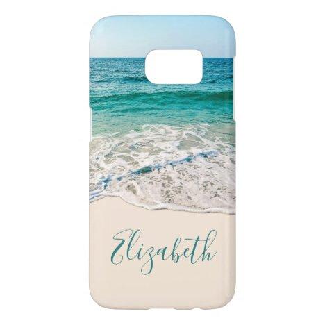 Ocean Beach Shore to Add Your Name Samsung Galaxy S7 Case