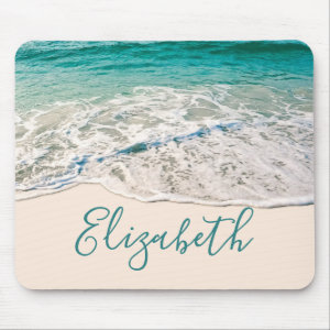 Ocean Beach Shore to Add Your Name Mouse Pad