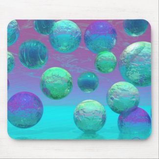 Ocean Dreams - Aqua and Violet Ocean Fantasy mousepad