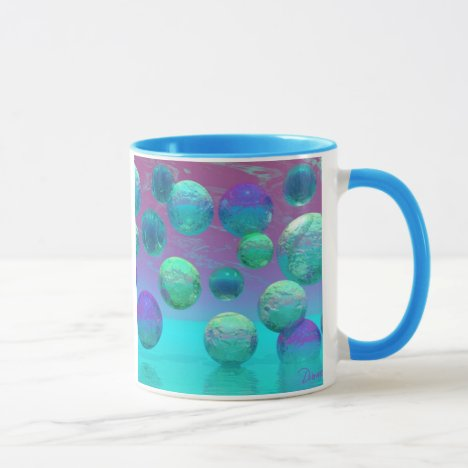 Ocean Dreams - Aqua and Violet Ocean Fantasy Mug