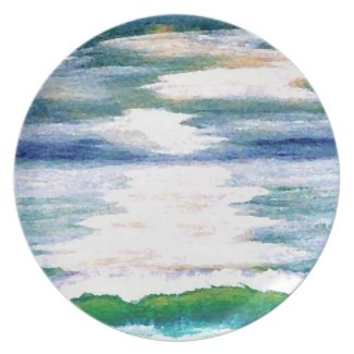 Ocean Reflections - cricketdiane plate design plate