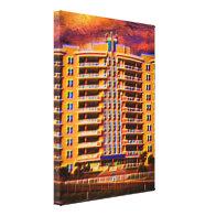 Ocean Vistas Beach Condominiums Art Gallery Wrap Canvas
