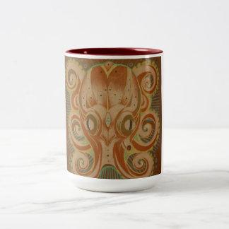 octopus coffee mug orange