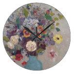 Odilon Redon - Vase Of Flowers Large Clock