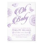 Oh Baby | Baby Shower Invitations | Purple
