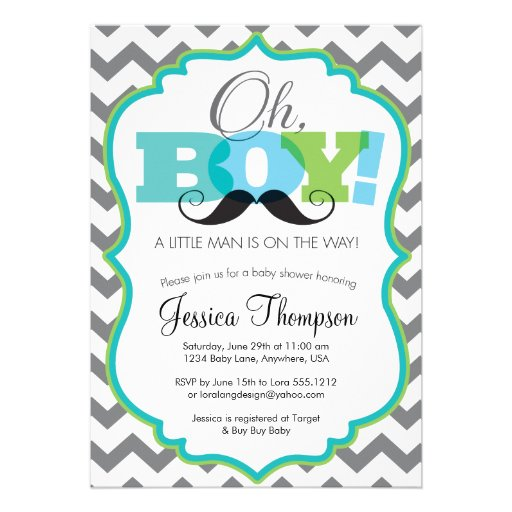 Personalized Mustache Bash Invitations Custominvitations4u Com